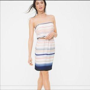 WHBM Strapless Striped Dress